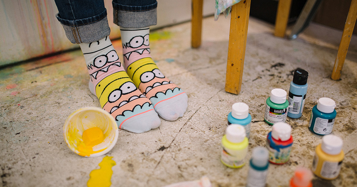 stance socks the simpsons