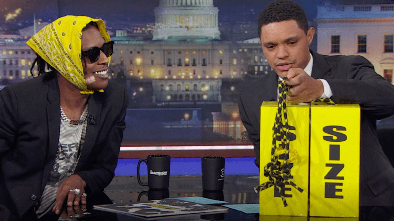 A$AP Rocky reveals his Under Amour collab on 'The Daily Show