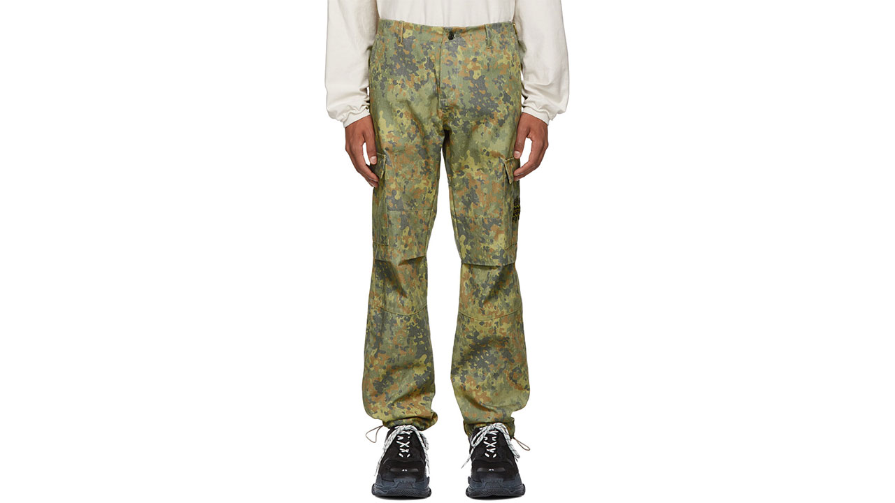 Resort Corps Camouflage Infantry Cargo Pants / $400 USD