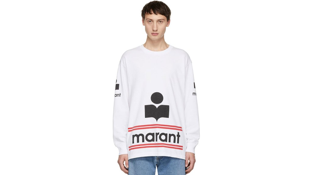 Isabel Marant White Gianni Long Sleeve T-Shirt / $220 USD