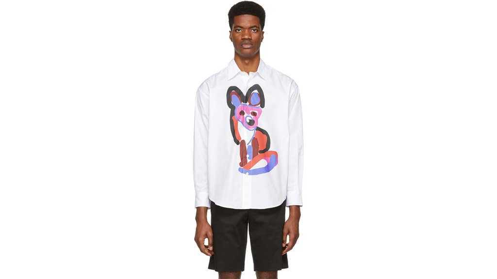Maison Kitsuné White Acide Fox Casual Shirt / $265 USD