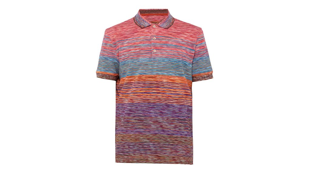 Missoni Stripe-Jacquard Polo Shirt / $393 AUD