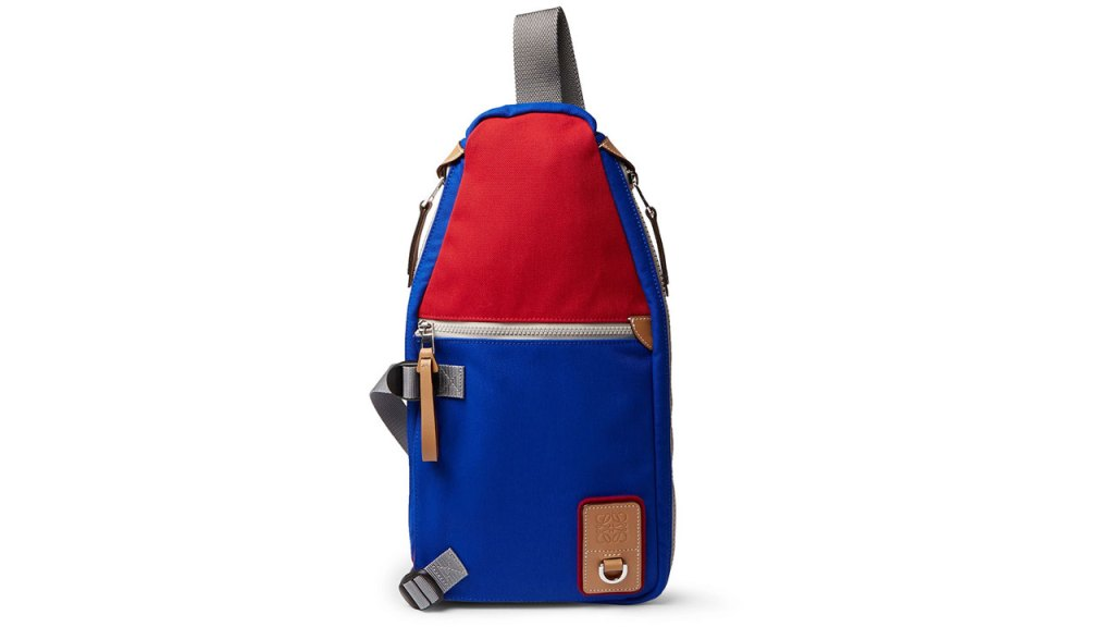 Eye/LOEWE/Nature Sling Colour-Block Canvas Backpack / $986 AUD