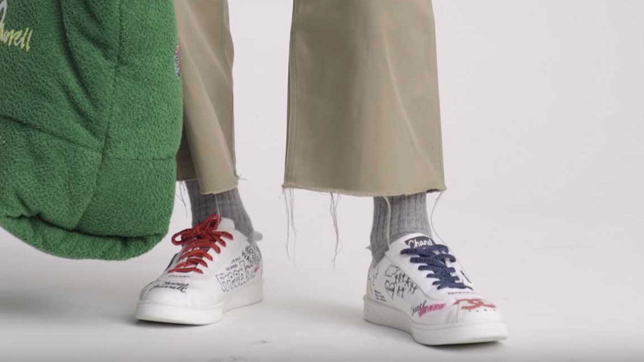 c24a5ec81 Pharrell Williams teases his next line of collaborative sneakers. New Chanel  and Adidas kicks are on the way. Credit  GQ France. 2 more. Credit  GQ  France