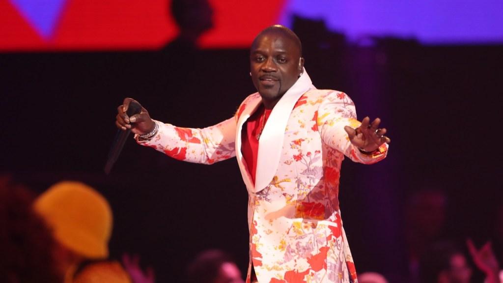 Akon performing