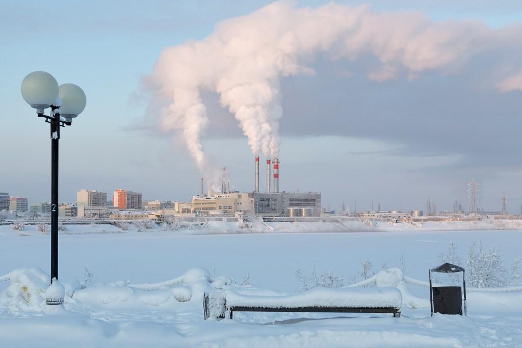 Verkhoyansk in winter, climate change