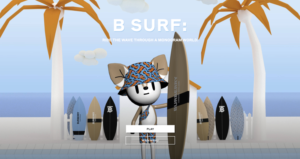 Burberry video game B Surf