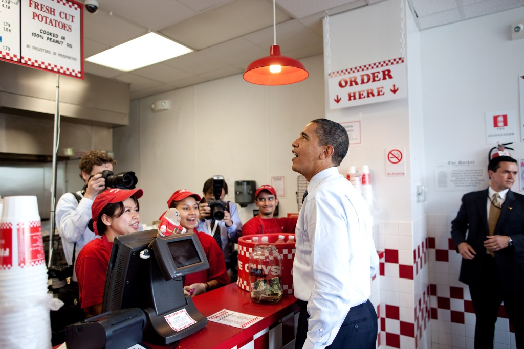 Barrack Obama Five Guys