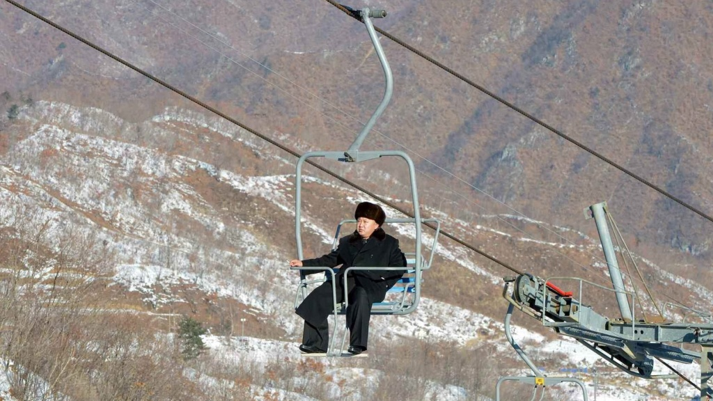North Korea skiing