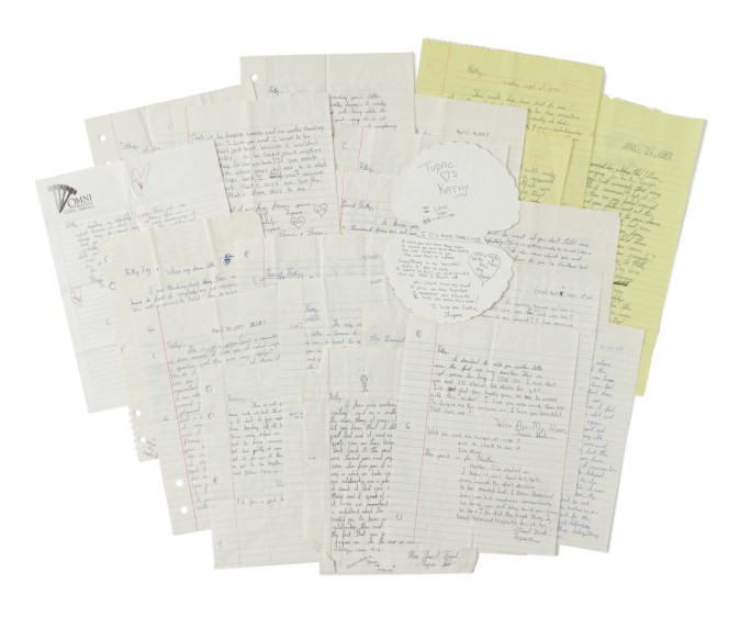 Tupac Shakur love letters auction