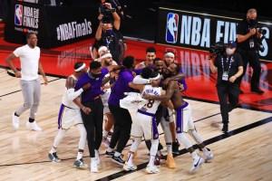 Lebron James celebrates NBA win - 2020 Timeline