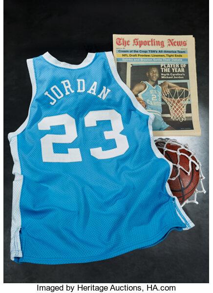 Michael Jordan's University of North Carolina jersey from his 1982-83 NCAA Player of the Year season.